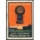 Gerner Bräu München Luft - Schiffahrt Pilâtre de Rozier 1784