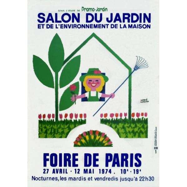 Paris 1974 foire de paris salon du jardin poster stamps wolfgang kunze - Table a repasser foire de paris ...