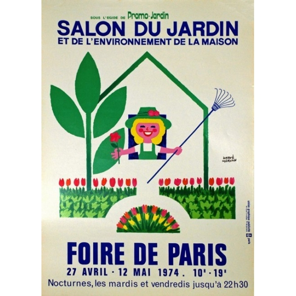 Paris 1974 foire de paris salon du jardin 39x55 poster - Salon de jardin foire de paris ...