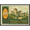 Klaas Stahlwaren Fabrik Ohligs Solingen Schloss Burg Wupper