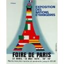 Paris 1974 Foire de Paris Exposition des Nations Etrangères ...