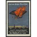 Gerner Bräu München Luftschiffahrt ... Dr. Wölfert 1897
