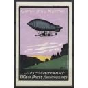 Gerner Bräu München Luftschiffahrt Parseval Ville de Paris 1907