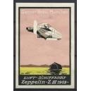 """Gerner Bräu München Luftschiffahrt Zeppelin """"Z III 1909"""""""
