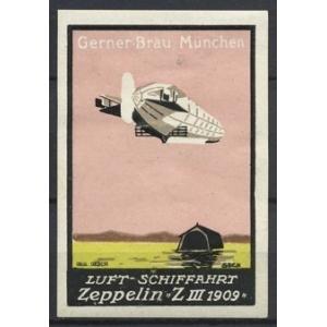 Gerner Br U M Nchen Luftschiffahrt Zeppelin Z Iii 1909