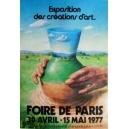 Paris 1977 Foire de Paris Exposition des créations d'art (40x60 - AL)