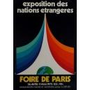 Paris 1975 Foire de Paris Exposition Nations Etrangères (40x60)