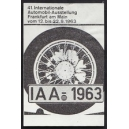 Frankfurt 1963 IAA 41. Internationale Automobil Ausstellung