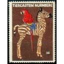Nürnberg Tiergarten (Zebra, Papagei Var. B - klein)