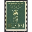 Helsinki 1952 Deutsche Olympische Gesellschaft Spendenmarke