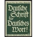 Deutsche Schrift für Deutsches Wort ! (grün)