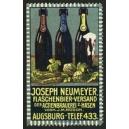 Neumeyer Flaschenbier-Versand Actienbrauerei z. Hasen Augsburg